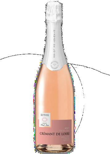 Diamant de Loire Brut Pink Star Cremant de Loire AOC